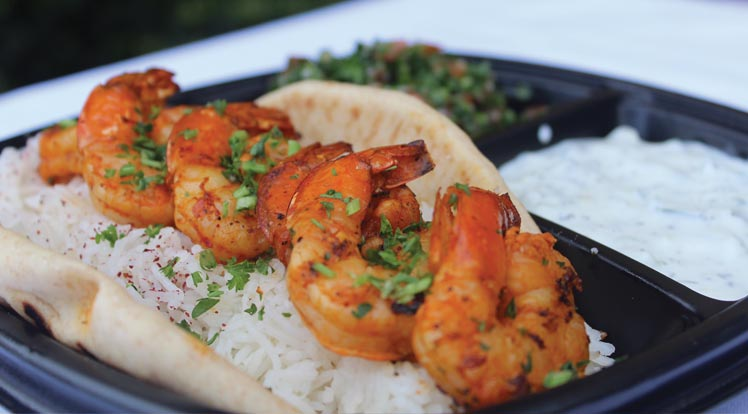 Grilled Shrimp Kabob Plate